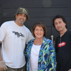 Mayor Jacobs with two men