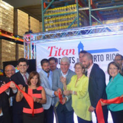 Ribbon cutting for Titan Products of Puerto Rico