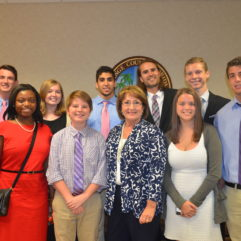 Mayor Jacobs with Mayor for a Day winners