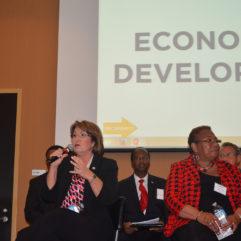 Mayor Jacobs with distinguished panel
