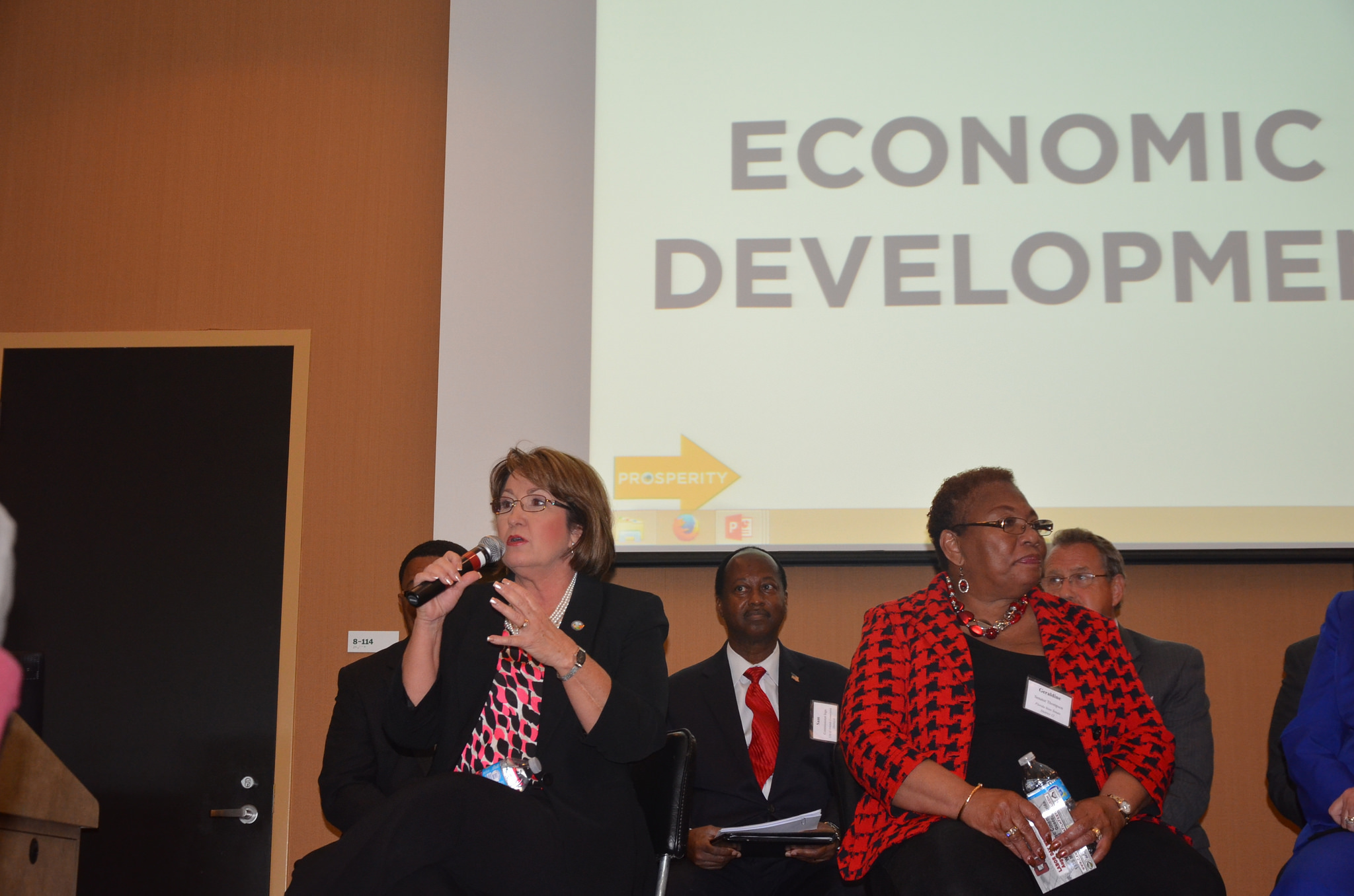 Mayor Jacobs with distinguished panel