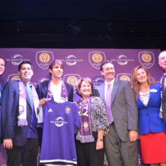 Mayor Jacobs and personnel with Kaka