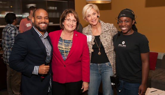Mayor Jacobs and conference personnel at Full Sail