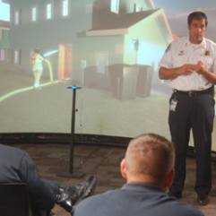 OCFR employee giving a presentation