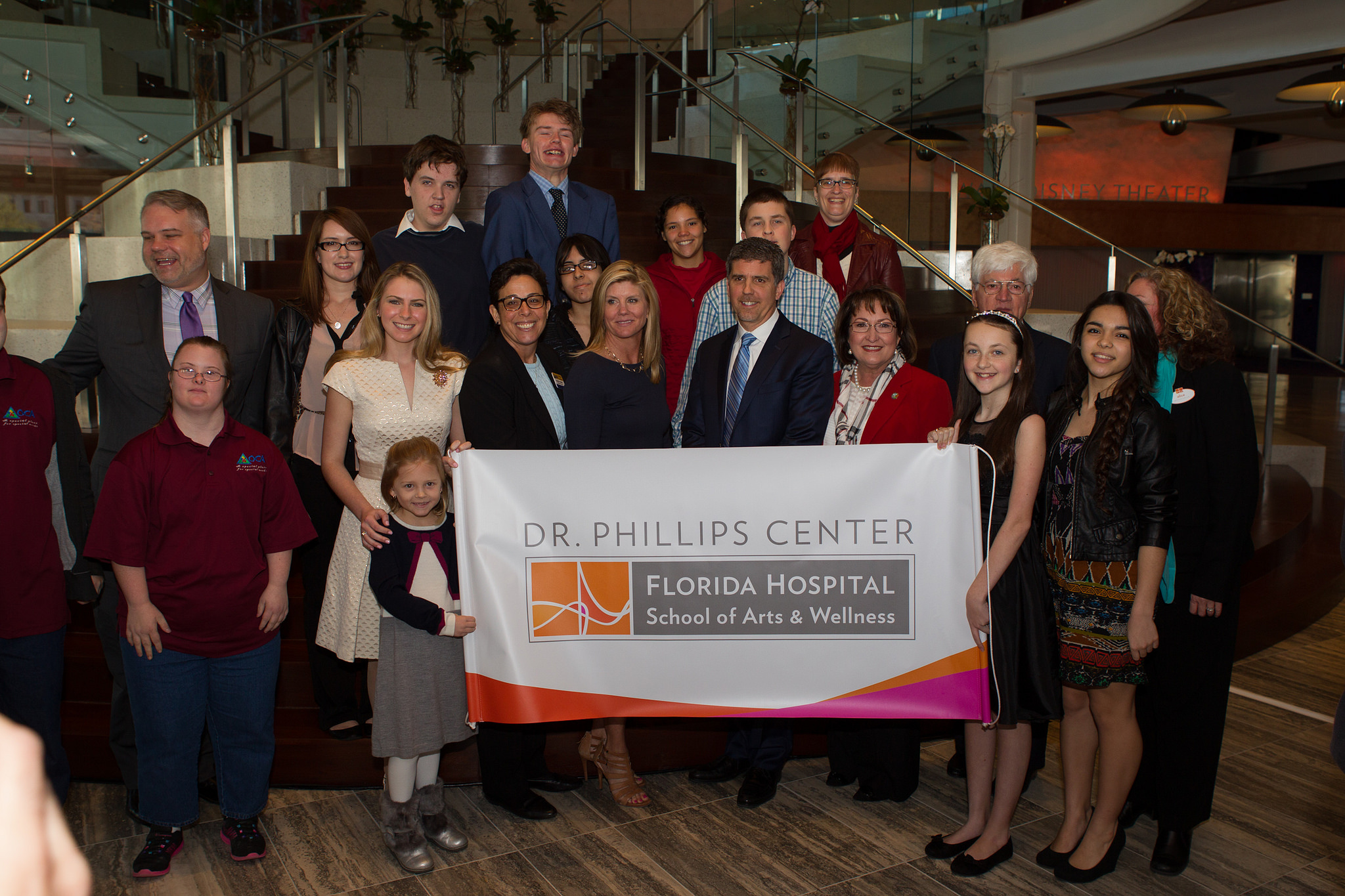 Dr. Phillips Center and Florida Hospital representatives for partnership
