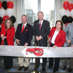 Ribbon cutting for Red Lobster Support Center
