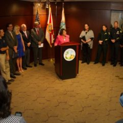Mayor Jacobs speaking on child abuse