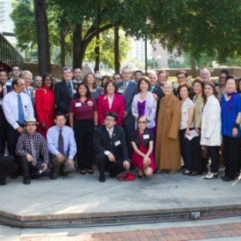 Mayor Jacobs and personnel celebrating Asian Pacific American Heritage Month