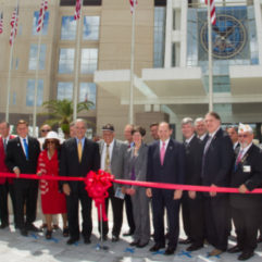 Ribbon Cutting for Veterans Administration Medical Center