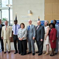 Mayor Jacobs and personnel for the Veterans Surge Press Conference