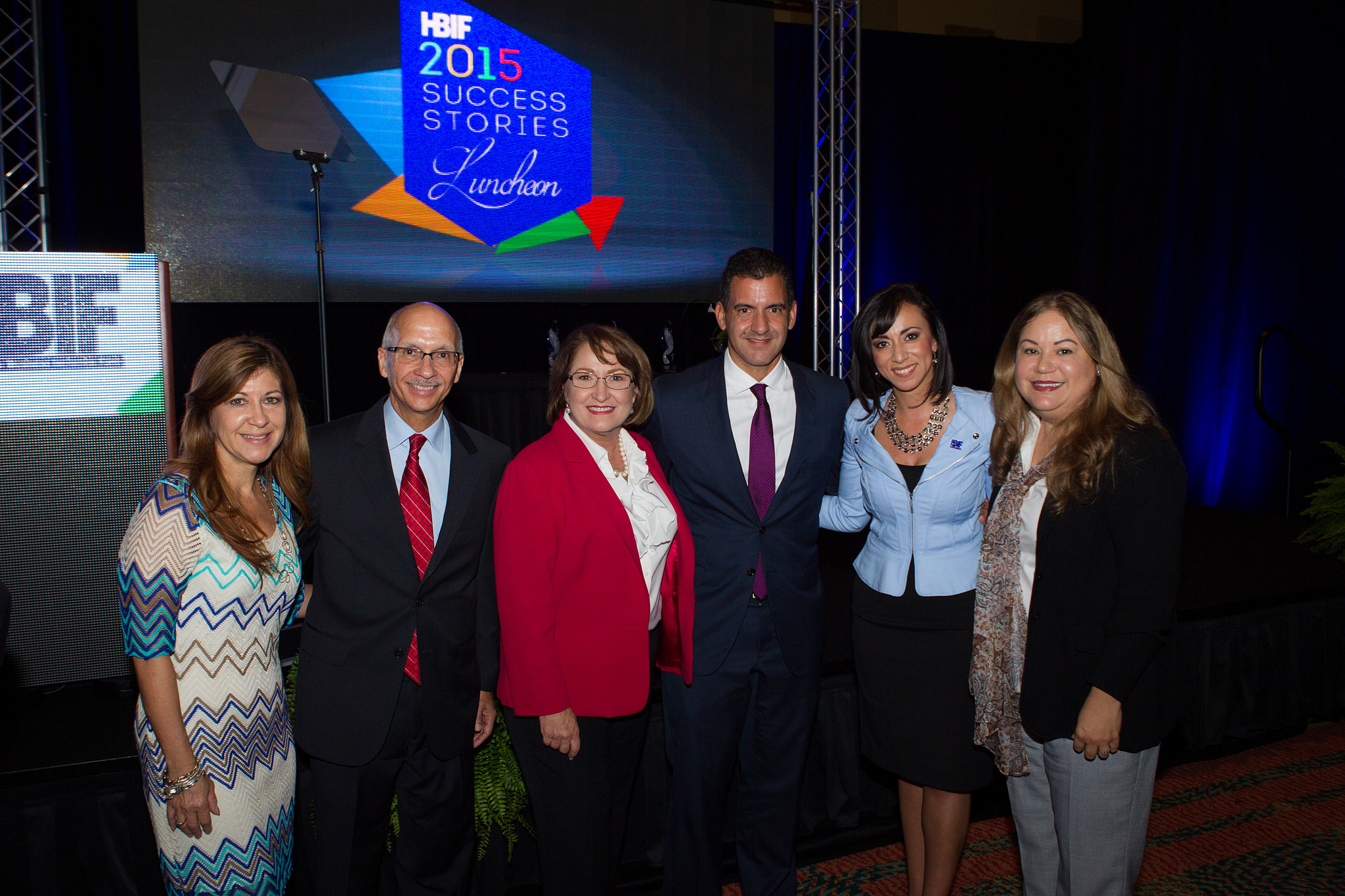 Mayor Jacobs with Hispanic Business Initiative Fund representatives