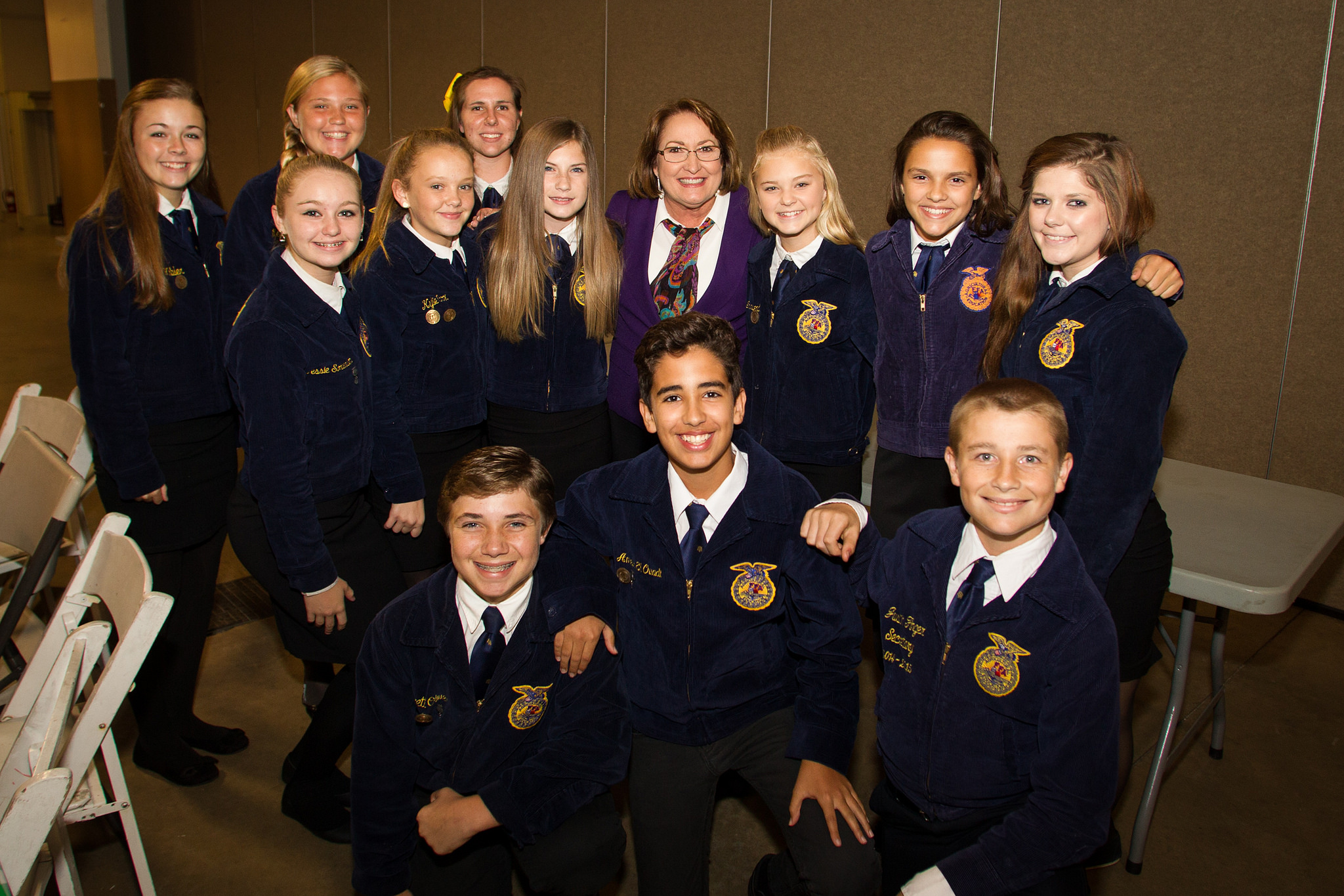 Future Farmers of America members with Mayor Jacobs