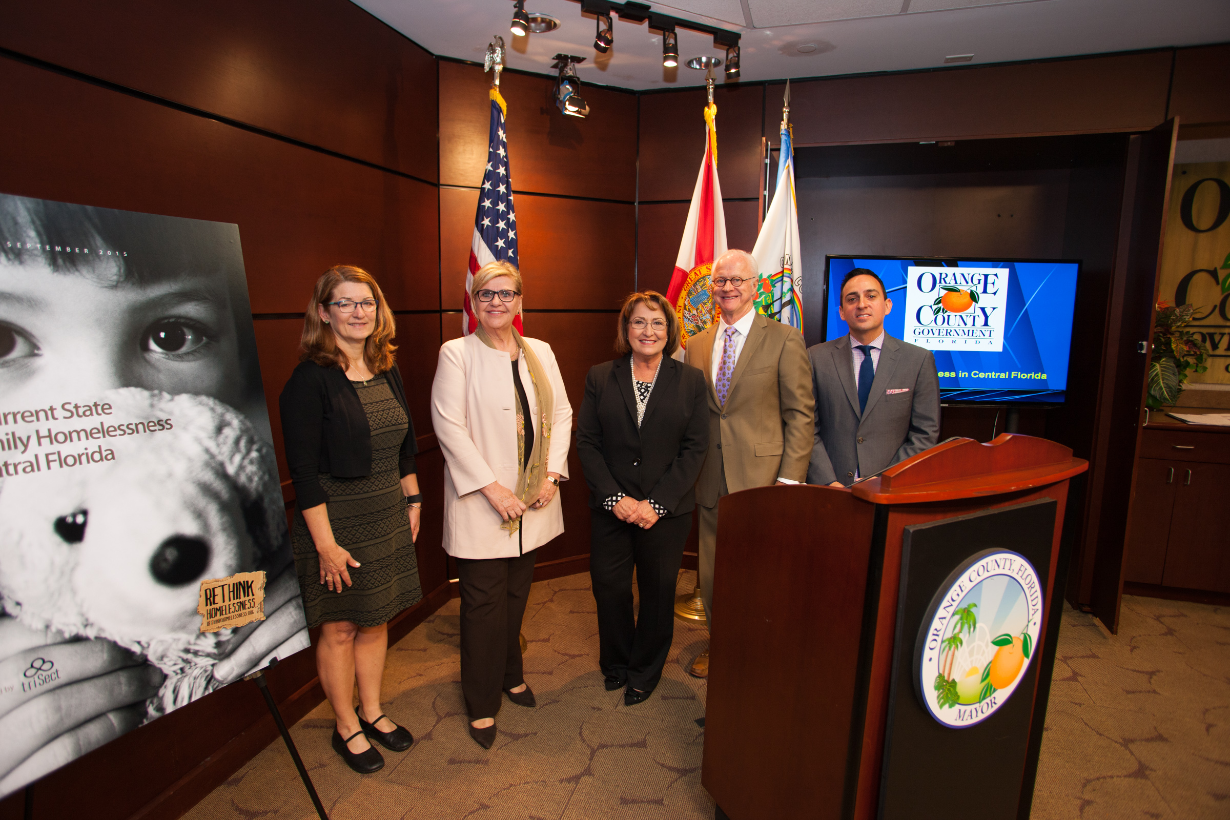 Barbara Poppe, Linda Landman Gonzalez, Mayor Teresa Jacobs, Dick Batchelor and Andrae Bailey
