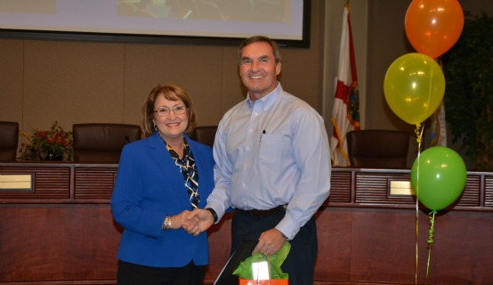MAyor Jacobs and OC Experience Attendee