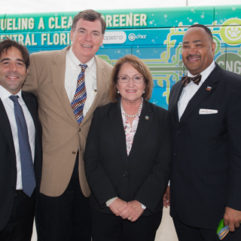 Mayor Jacobs with personnel for Natural Gas Fueling Facility