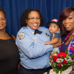 OCFR with two women and a child