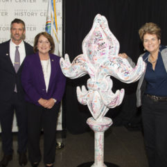 New Orleans' Hospitality Community Dedicates Memorial Fleur-De-Lis to  One Orlando Collection at Orange County Regional History Center
