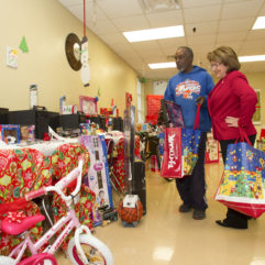 Mayor Jacobs with Holiday Heroes Toy Drive