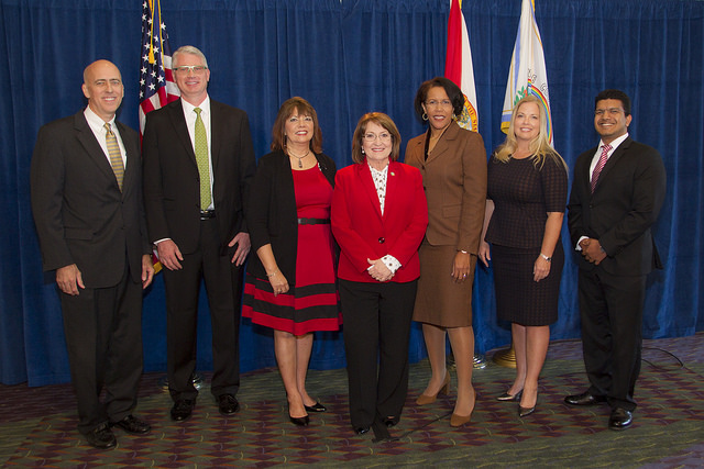 Mayor Jacobs and participants in the Economic Summit