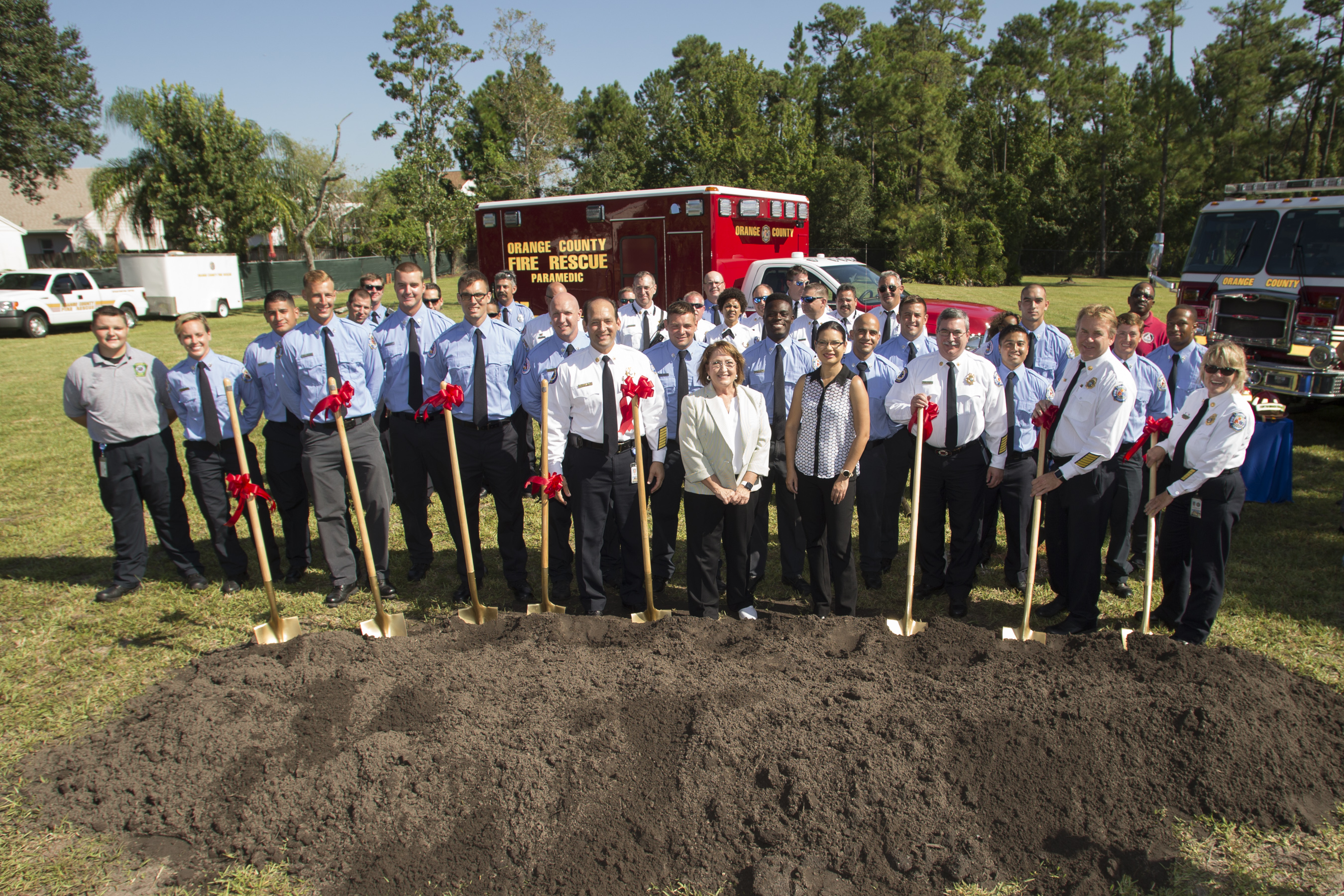 Mayor Jacobs and OCFR at groundbreaking