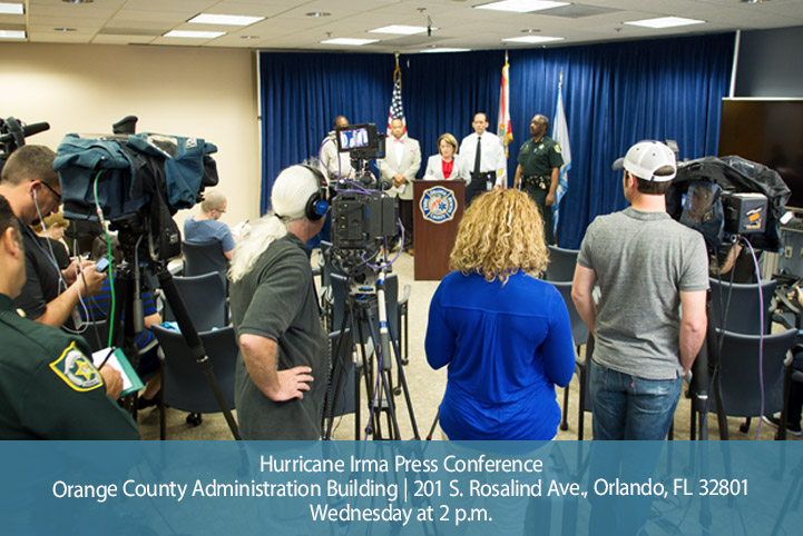 Press briefing for sandbag distribution
