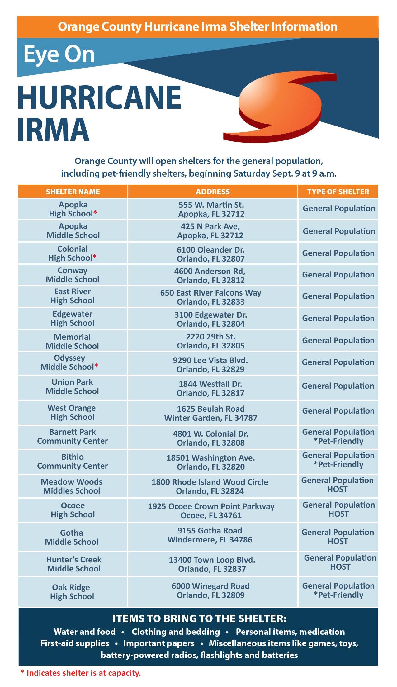 orange county issues mandatory evacuation notice for residents of