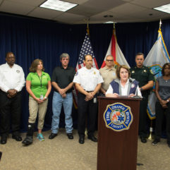 Mayor Jacobs and BCC at emergency management press briefing