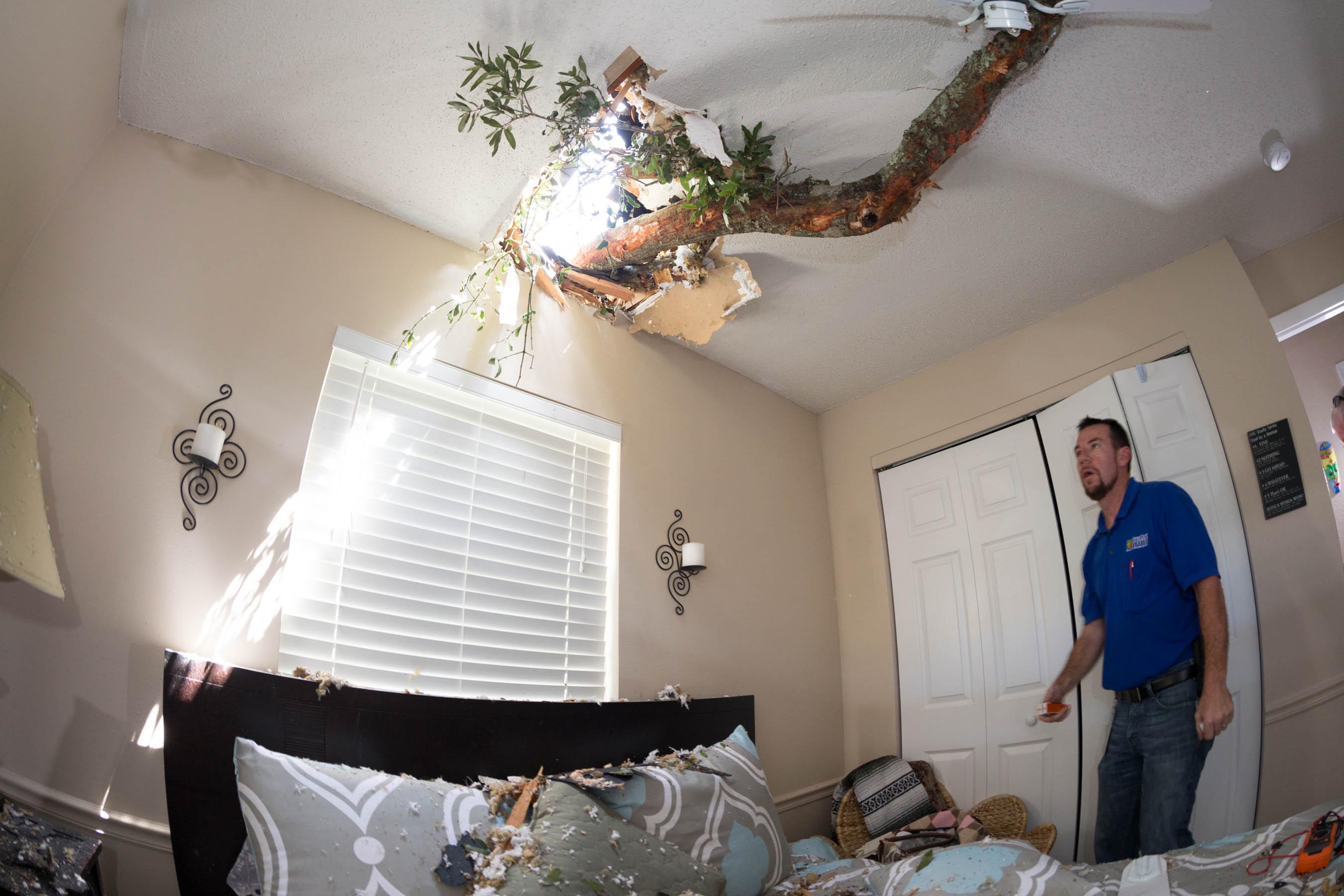 Emergency management assessing damage