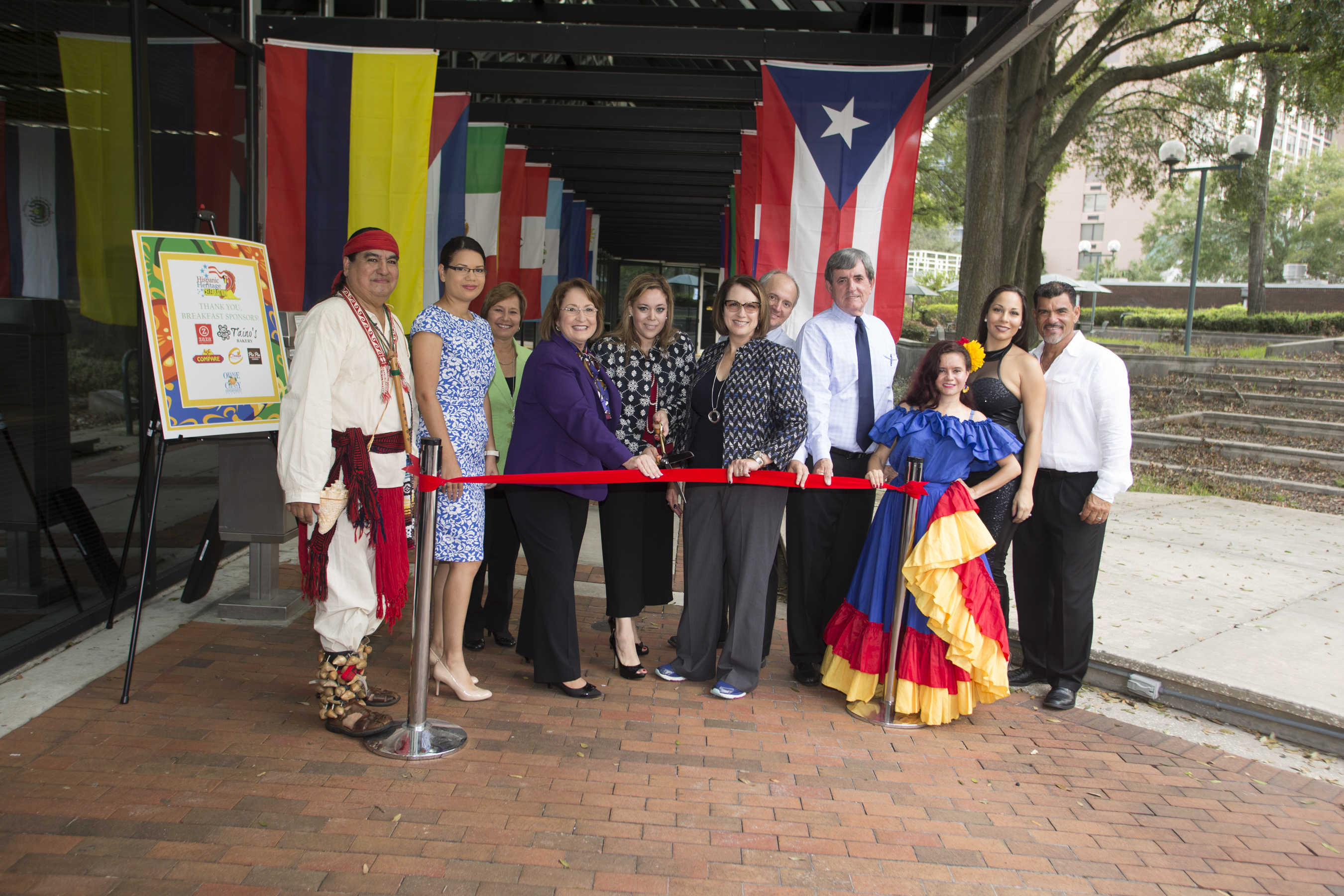 Ribbon cutting for Hispanic Heritage Month celebration