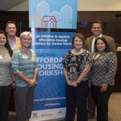 Mayor Jacobs and representatives at the Affordable Housing Workshop