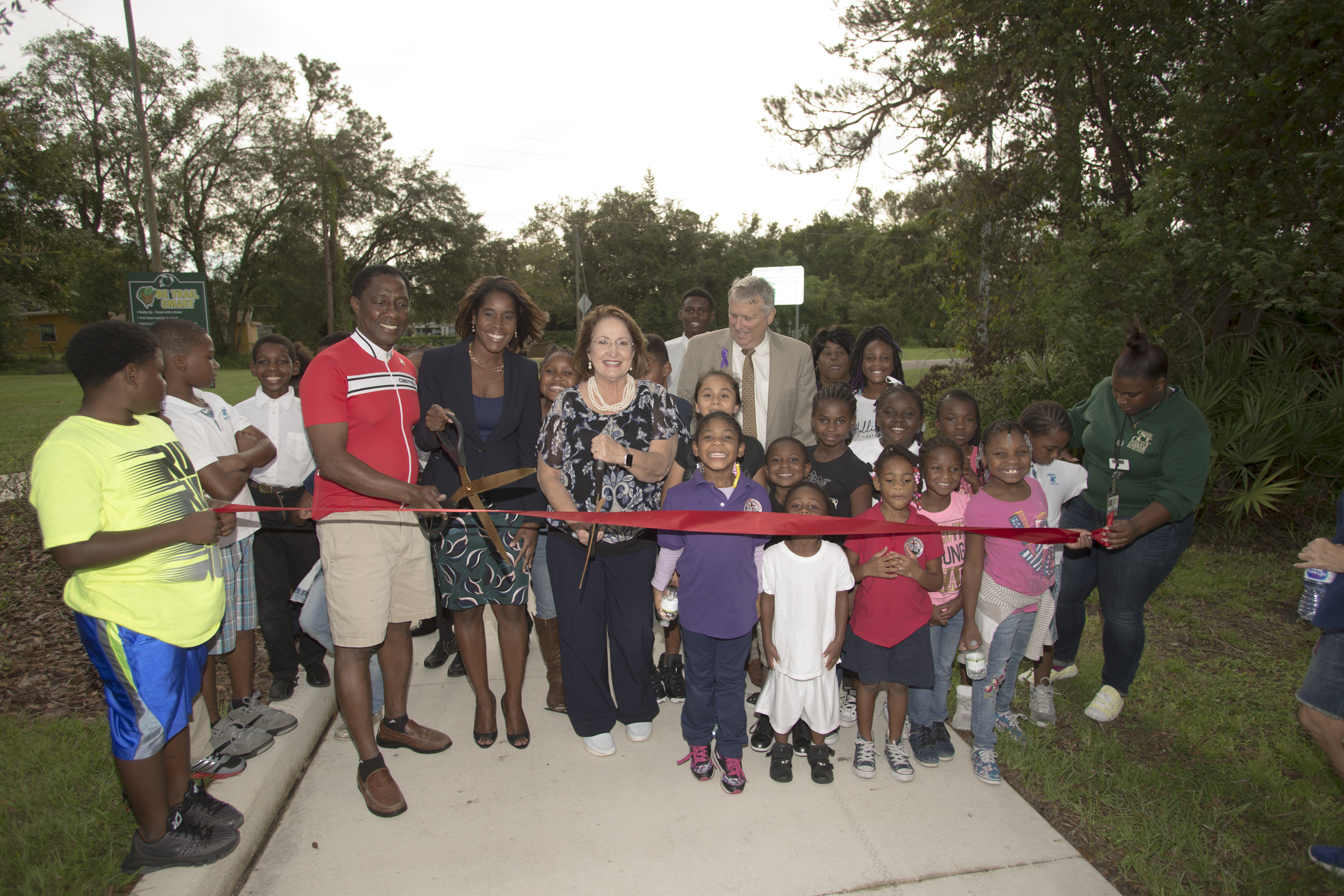 Ribbon cutting for Pine Hills trail