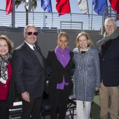 La Alcaldesa junto a los líderes de la comunidad y de la USTA