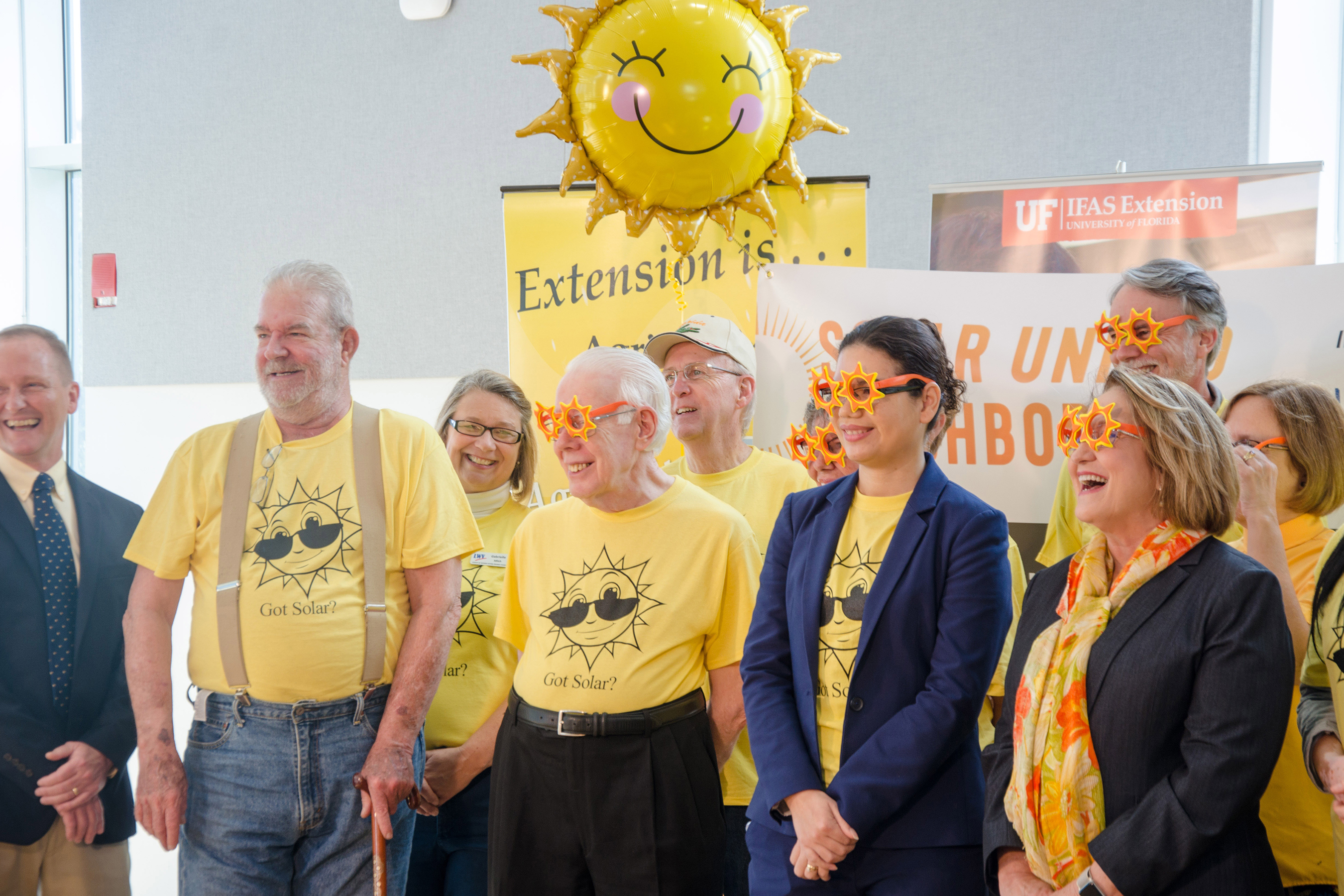 Mayor and solar co-op supporters at launch