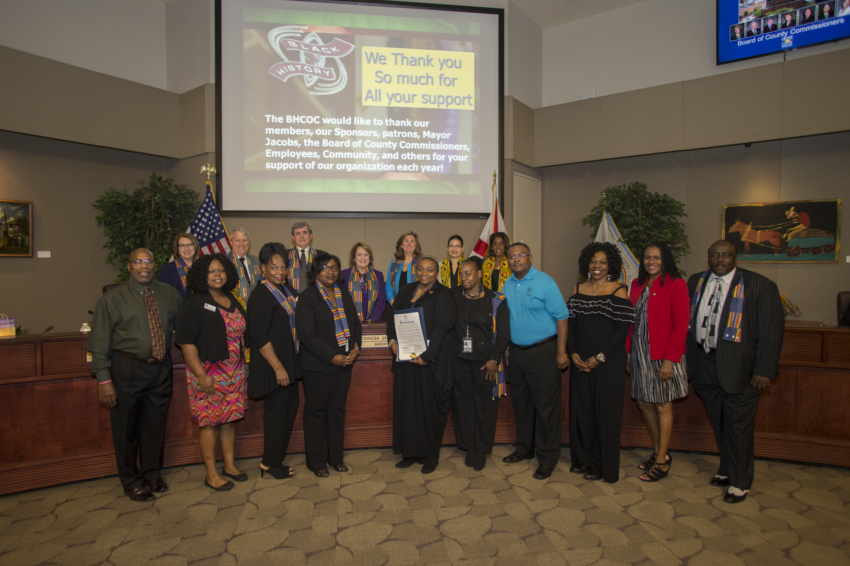 Black History Committee accepting award