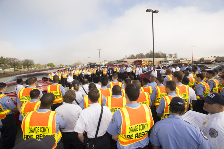 Orange County Fire Rescue officers standing together