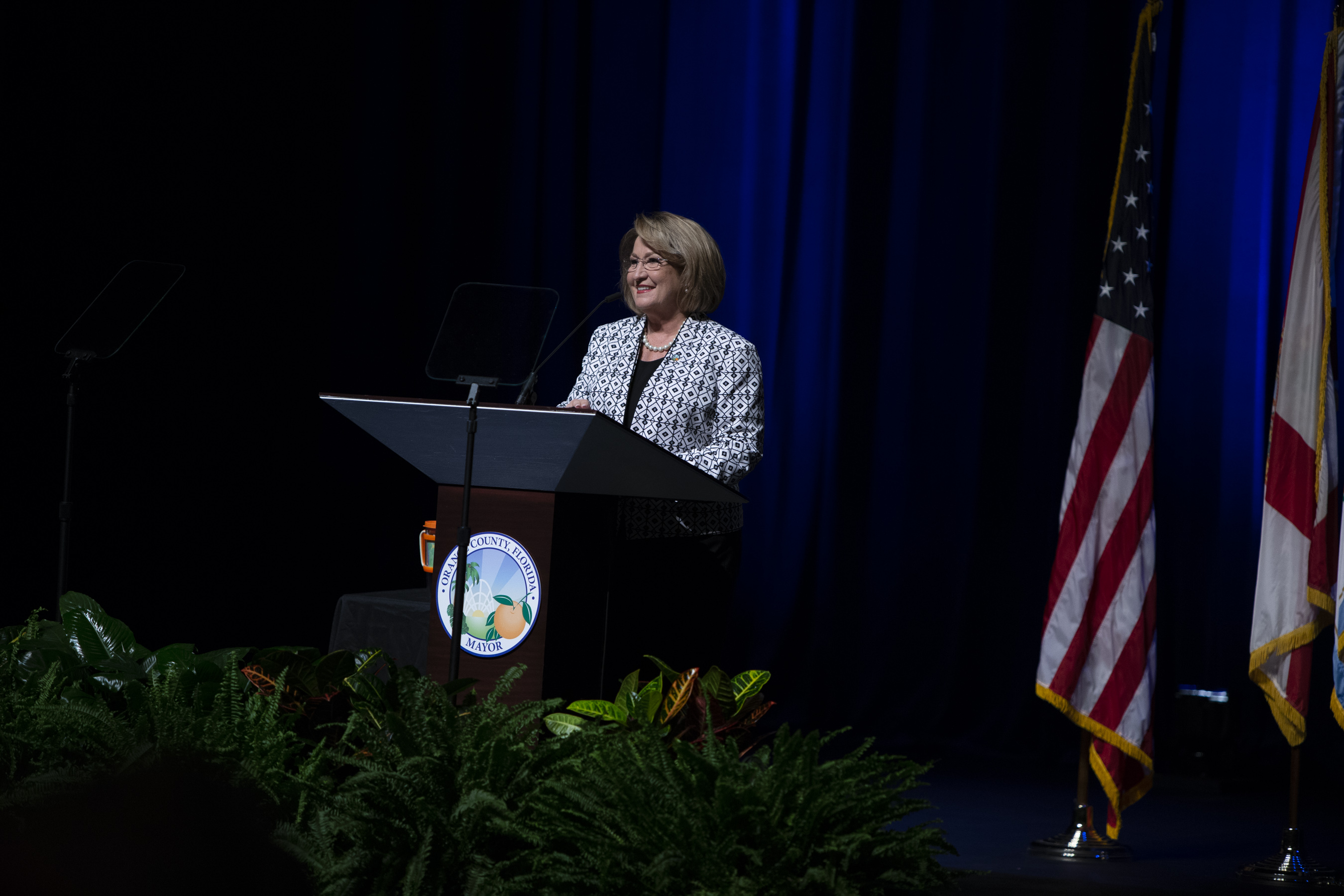 Mayor Jacobs at a podium