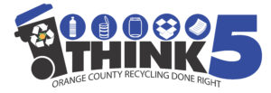 Logotipo de Think 5 - Orange County Recycling Done Right