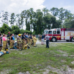 Mental Health Clinicians Participate in Mock Fire Rescue Event to Aid First Responders