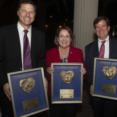 OCFL Mayor Teresa Jacobs and other leaders holding their awards