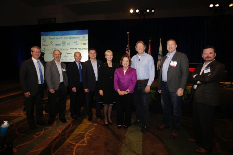 Mayor Jacobs and other leaders standing for a photo at the Florida Simulation Summit 2018