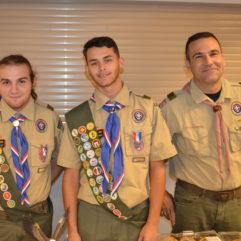 Three members of the Boy Scouts of America