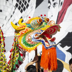 Volunteers practice the dragon dance for the 2019 Dragon Parade and Lunar New Year Festival in Orlando's Mills 50 Main Street District.