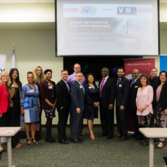 Mayor Demings and his staff along with regional business leaders at the Disability Chamber's spring 2019 class of the Veterans Business Initiative.