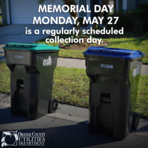 Photo of roll carts - Memorial Day, Monday, May 27, 2019, is a regularly scheduled curbside collection day.