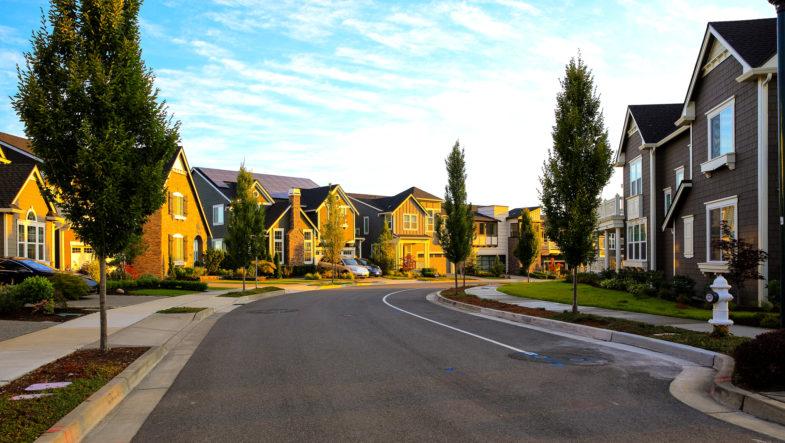 An idyllic neighborhood