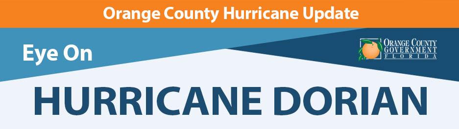 Orange County Hurricane Update: Eye on Hurricane Dorian
