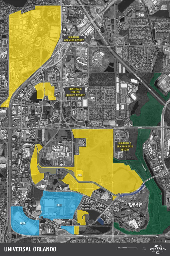 Map of Universal Orlando Masterplan