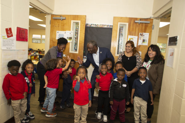 Orange County Mayor Jerry L. Demings visits a Head Start classroom in Orange County.