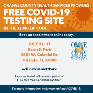 Free COVID 19 Testing Site at Barnett Park