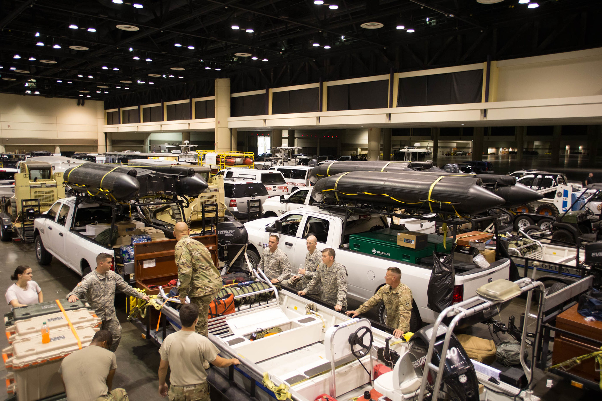 Orange County Convention Center serves as a statewide staging area during Hurricane Irma.